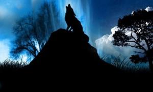 Huilende weerwolf